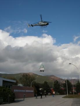 trasporto con Elicottero